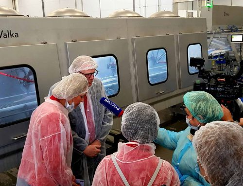 Formal opening of the high-tech processing plant at Murman Seafood